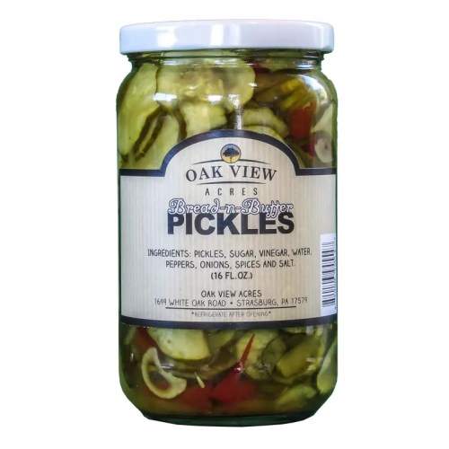 16 oz Bread & Butter Pickles from Oak View Acres