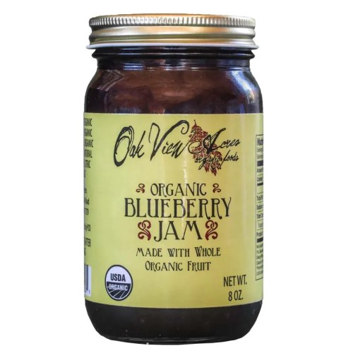 8 oz Organic Blueberry Jam from Oak View Acres