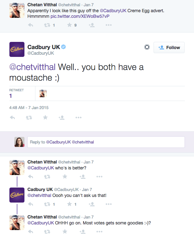 Cadbury Twitter funny humour
