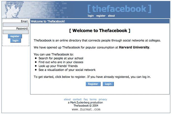 TheFaceBook Harvard University