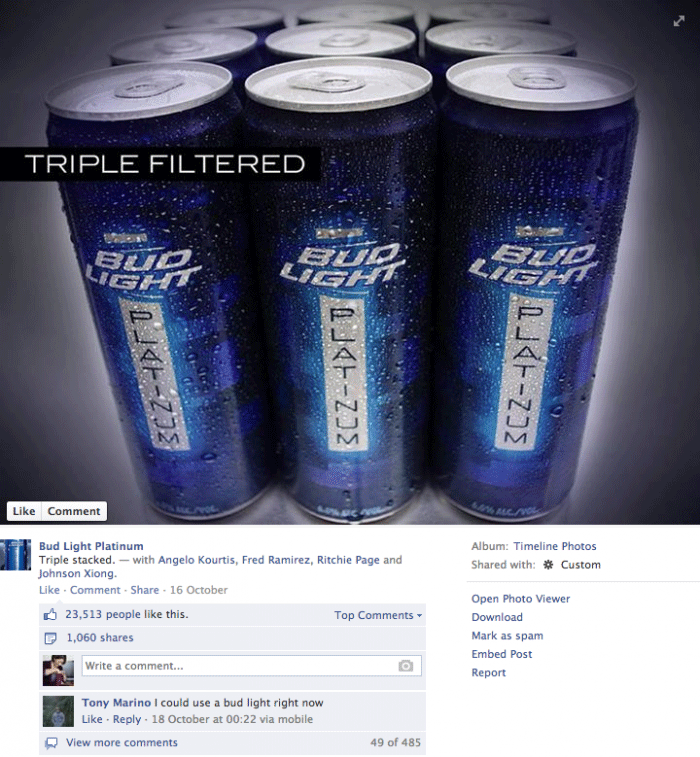 Why you need images in social media bud light