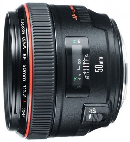 Canon 50mm f1.2 lens