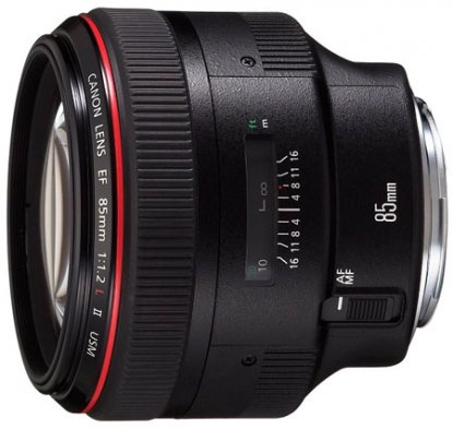 Canon 85mm f1.2 EF lens