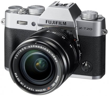 Fujifilm X-T20 mirrorless camera.