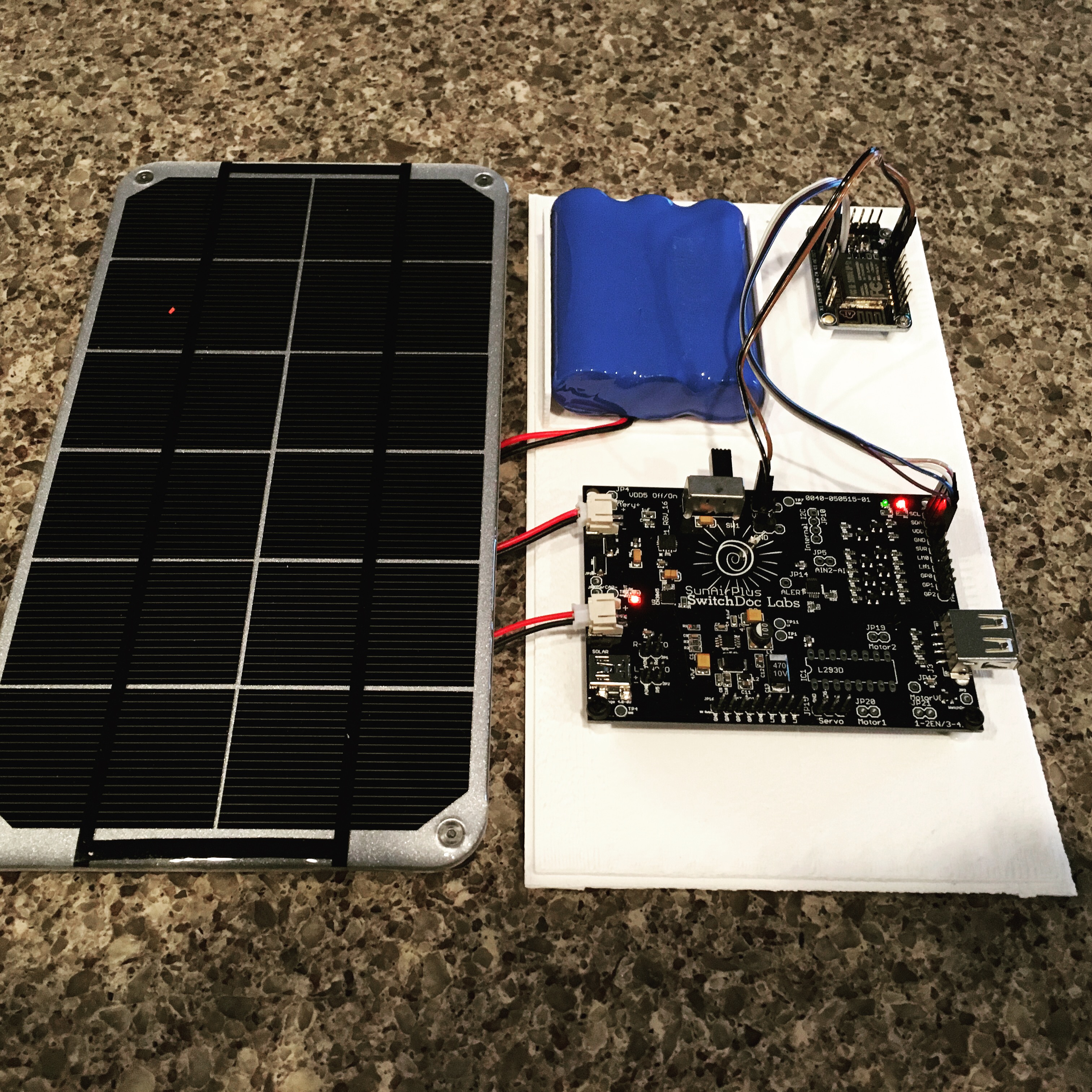 Iot Esp8266 Tutorial Solar Power Your 1 Switchdoc Labs Powered Arduino Weather Station Li Ion Battery Charger