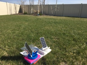 WeatherPi in the background. Sun Tracking Test in foreground.