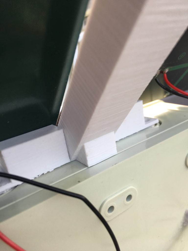 Tutorial Part 4 Boxing It Up Iot Esp32 Solar Powered Wifi Night Panel Box Wiring Here Is The Installed Bracket With Panels Slid In From Each Side Note Triangle Top Flush On