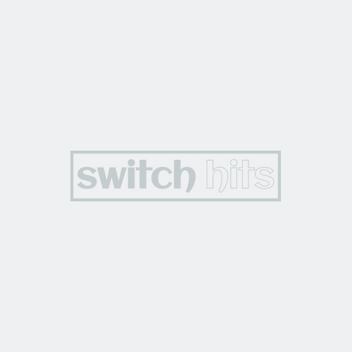 GLASS SILVER Light Switch Covers Outlet Covers