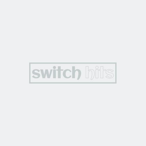 Brainerd Rustic Edges Tumbled Antique Brass Light Switch Plates