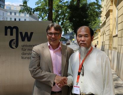 Director of University of Music and Performing Arts Vienna and WCMT International Scientific Committee member Dr. Thomas Stegemann and Master Shen Wu