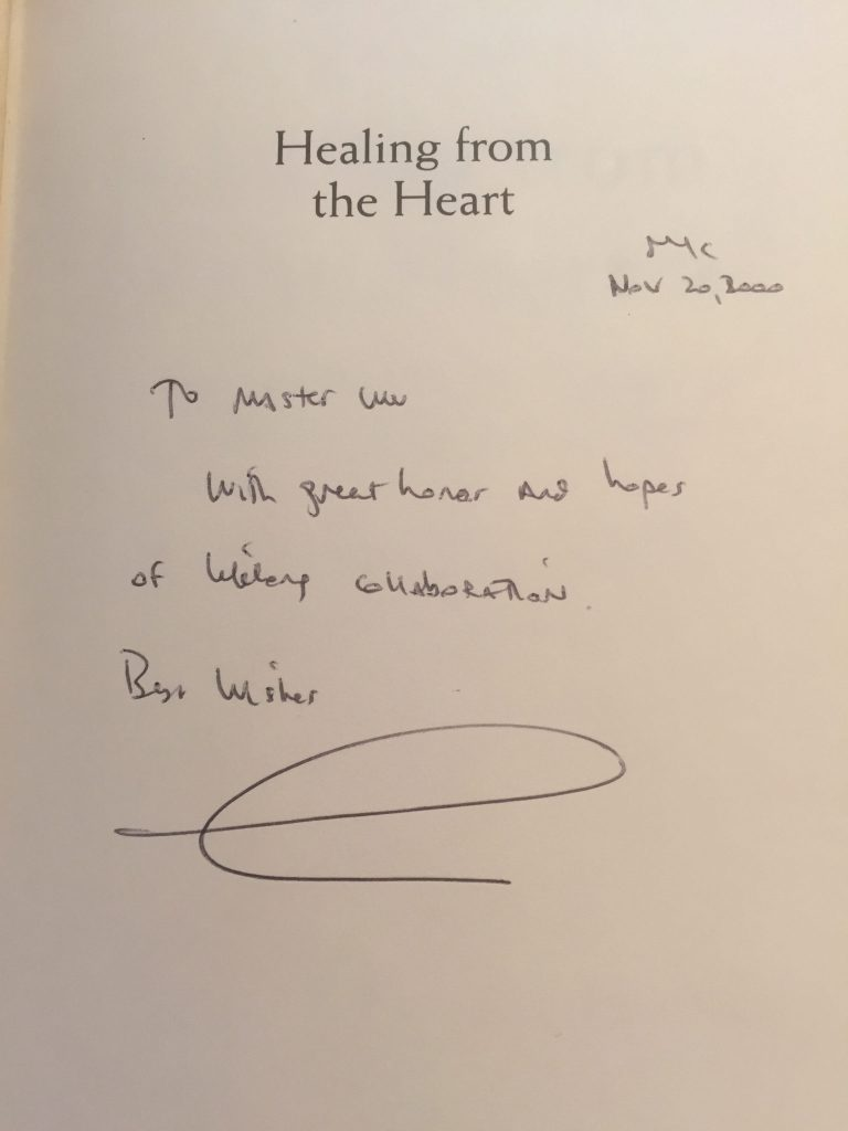 Dr. Oz's Writing to Master Shen Wu