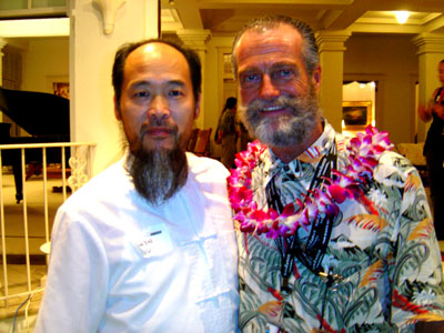 Master Shen Wu and HIFF Executive Director Chuck Boller