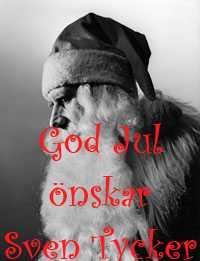 God Jul på er alla önskar Sven Tycker
