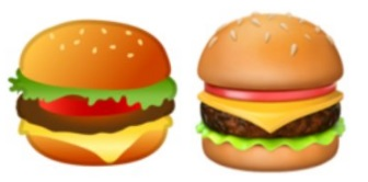 Exempel på hamburgeremojis