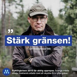 Ulf Kristersson bevakar gränsen