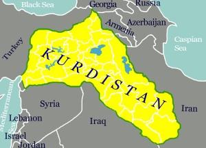 Karta över det Kurdistan som ine finns