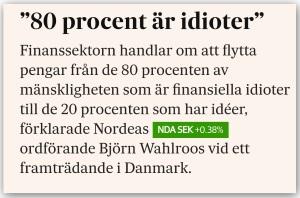 Bye bye Nordea