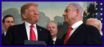 Donald Trump och Benjamin Netanyahu