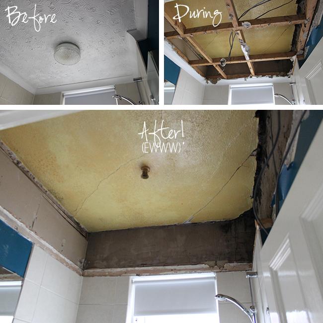 Operation Bathroom Remodel Removing A False Ceiling