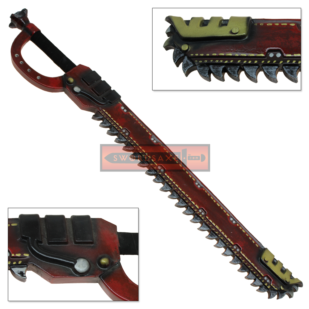 Red Soft FOAM Chainsaw Sword LARP SciFi Chainsword Prop Futuristic Cosplay Weapon