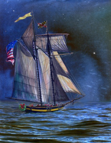 Pride of Baltimore II: pick a star on the dark horizon, and follow the light...