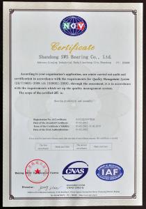 ISO9001 certification,sws-bearings