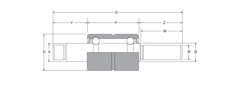 Structural drawing of the integral shaft bearing