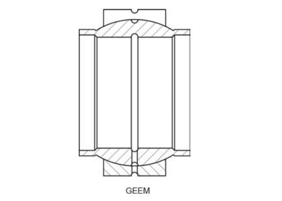 Structural drawing of the spherical plain bearing GEEM series