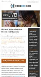 Educating Modern Learners Email Template