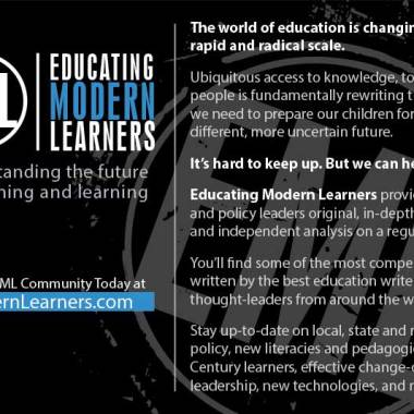 Educating Modern Learners Postcard (Back)