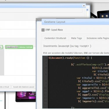 Gestione diversi layout, CSS, javascript personalizzati