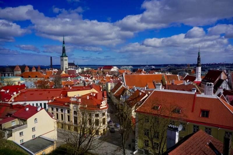 Old town Tallinn Estonia medieval