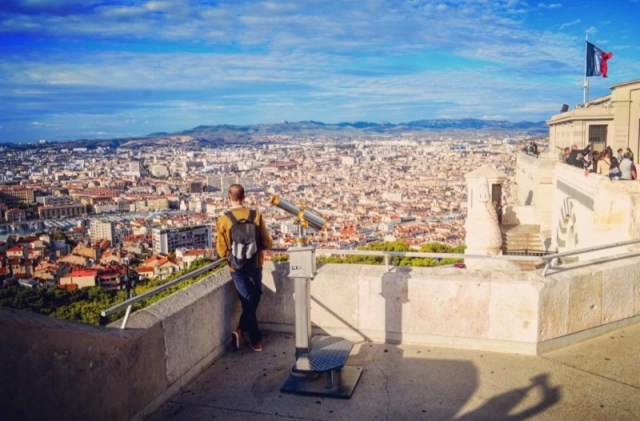 Celebrating Heritage Days in Marseille, France: View from Notre Dame de la Garde