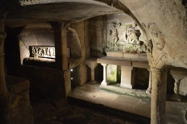 Celebrating Heritage Days in Marseille, France: Underground crypt