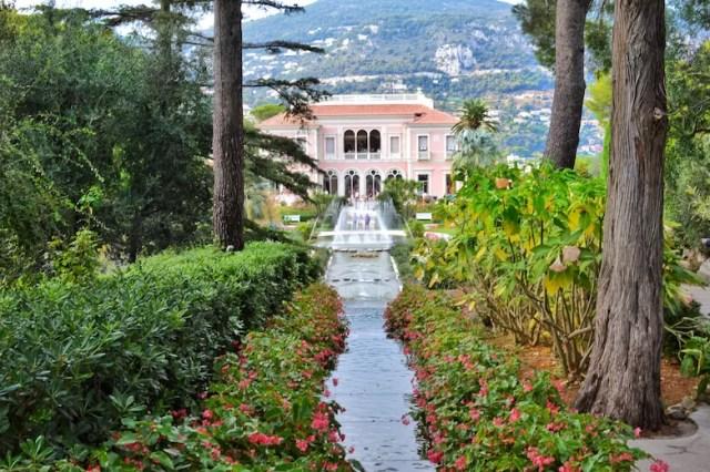 Facing the facade, Rothschild Villa, Nice, France