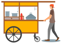 food cart graphic