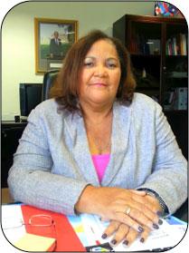 Madame Aline HANSON, Présidente du Conseil Territorial de la Collectivité d'Outremer de Saint-Martin.