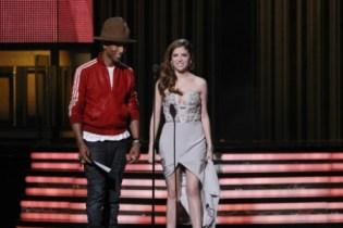 Pharrell Williams lors de la dernière cérémonie des Grammy Awards © Maxppp