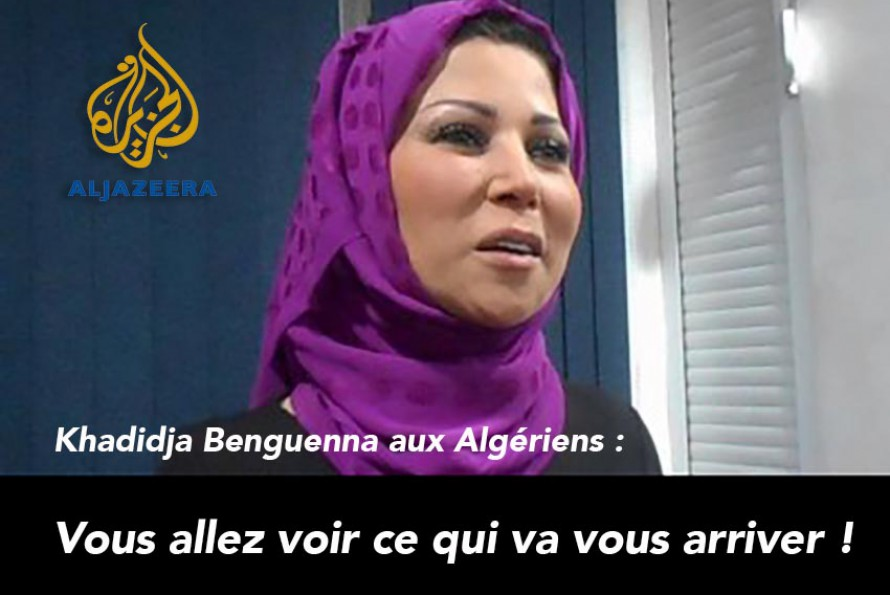 """La journaliste d'Al-Jazeera Khadidja Benguenna aux Algériens : """"Vous allez voir ce qui va vous arriver !"""""""