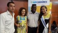 Salons des comités d'entreprises en Martinique (Godley Avs voyage, Mme Françoise Valère organisatrice, Grégoire Dumel Office de Tourisme, Moëra Michalon Miss Martinique 2015)