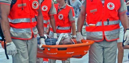 Légende photo 2 : « On essaie de recruter, de faire venir des jeunes volontaires, de telle sorte qu'on puisse tenir les postes, et être présents lorsque la préfecture ou la sécurité civile nous le demande », Roland Toussaint, président de la délégation de la Croix-Rouge à Saint-Martin.
