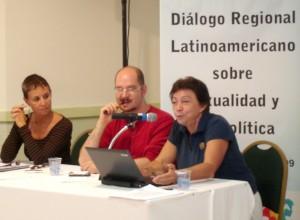 Sonia Corrêa, Rafael de la Dehesa, Gloria Careaga