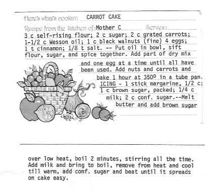Mama C's Carrot Cake