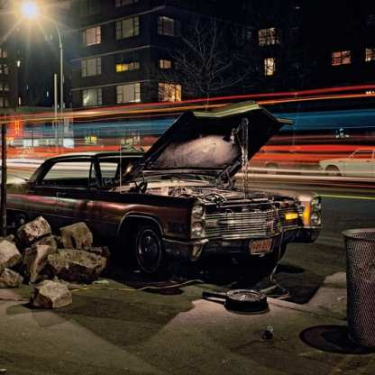 Hard Rock Caddy, Cadillac near 23rd Street and 8th Avenue, 1975 ©Langdon Clay