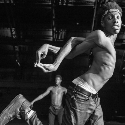 FLEX Dancers rehearse for upcoming show at the Park Avenue Armory directed by Peter Sellars on August 15, 2014. © Stephanie Berger