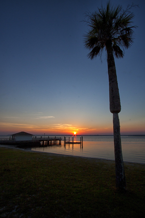 Sunset at Dungeness Dock on Cumberland Island ©Wikipedia