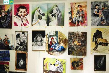 لوحات تشكيلية في مخيم الزعتري