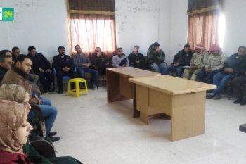 """اجتماع مع المجتمع المحلي و""""برنامج تطوير""""، بهدف حل أزمة المياه في بصرى الشام"""