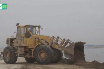 صيانة سد المنصورة بريف الرقة الغربي