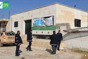 مراكز الشرطة مستمرة في عملها، رغم القصف الجوي العنيف